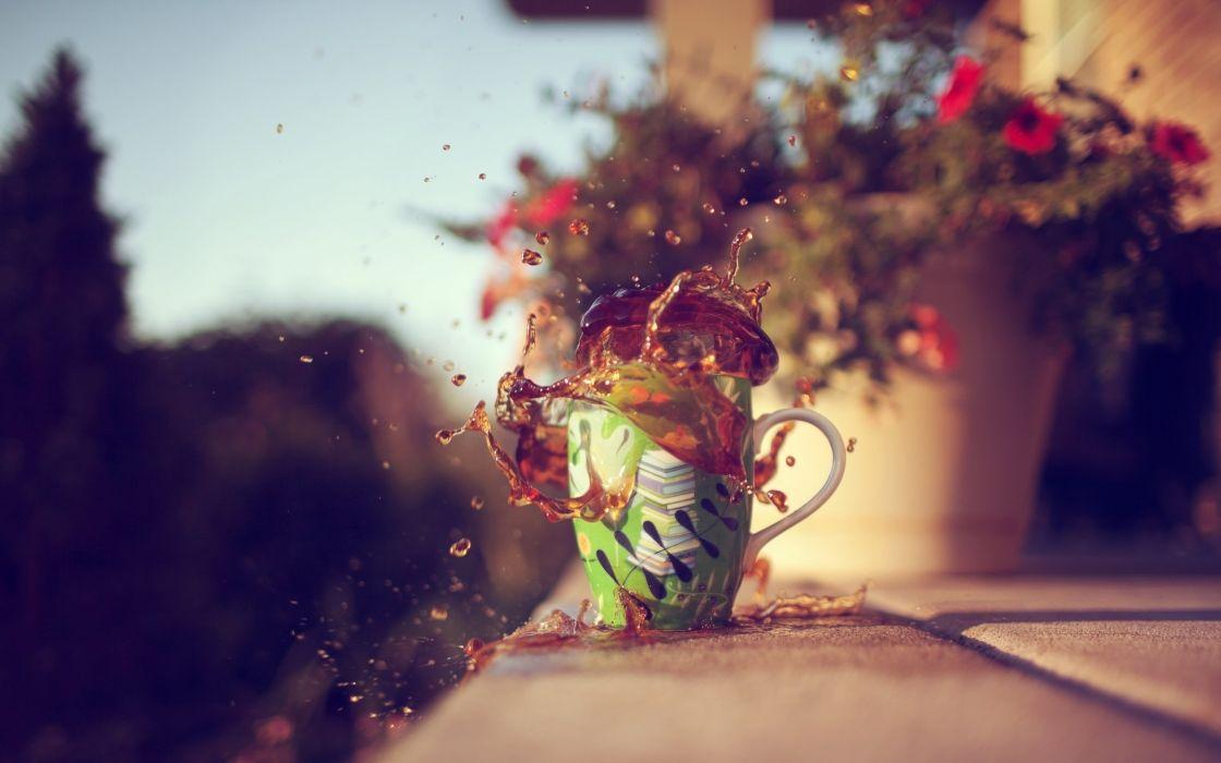 splash-of-coffee-Splash Coffee Cup wallpaper