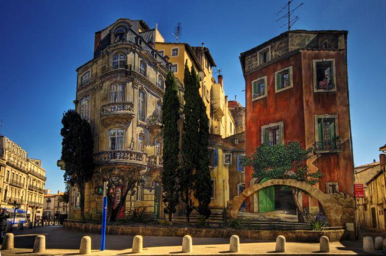 montpellier francia edificios wallpaper