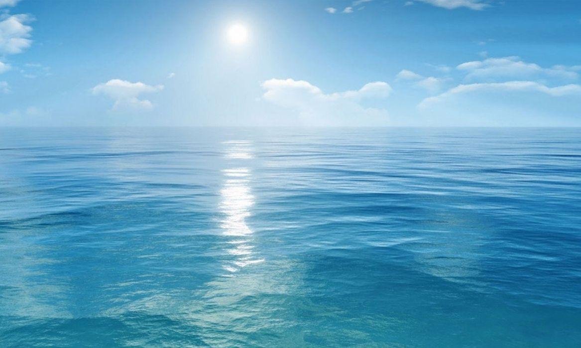 mar sol nubes naturaleza wallpaper