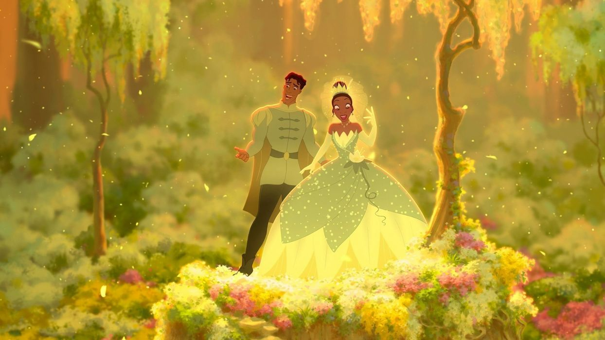 Cartoons Tiana The Princess and the Frog Disney Prince Naveen wallpaper