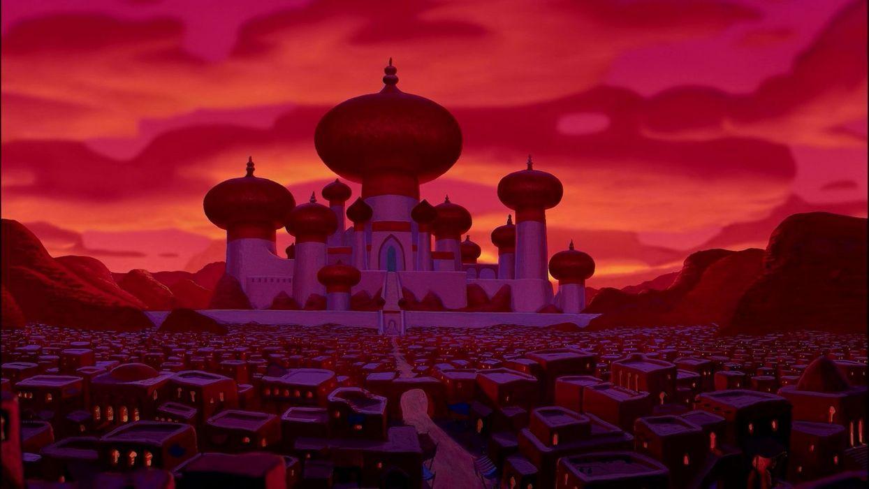 Cartoons Palace Aladdin Wallpaper