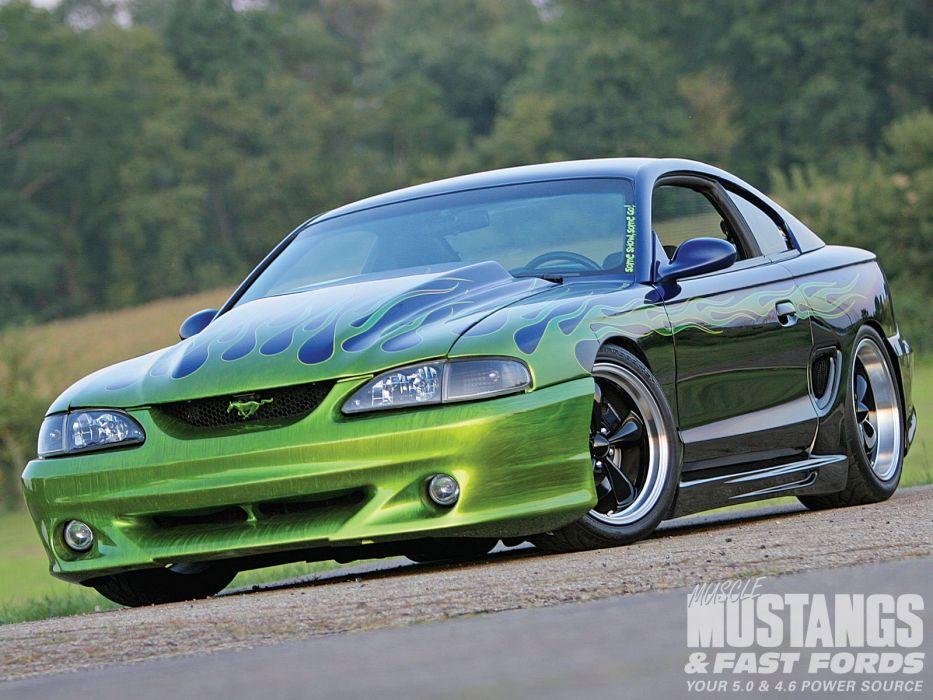 1998 Ford Mustang GT Muscle Pro Touring Supre Street Rodder Rod Hot USA 1600x1200-04 wallpaper