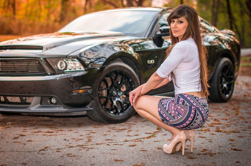 2011 Ford Mustang 5 0 Lauren Samuhel Babe Girl USA 2048x1360-01 wallpaper