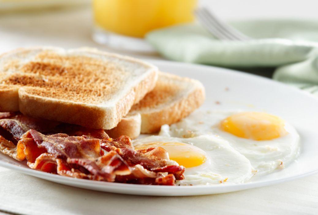 BACON EGGS breakfast meat chicken pork wallpaper