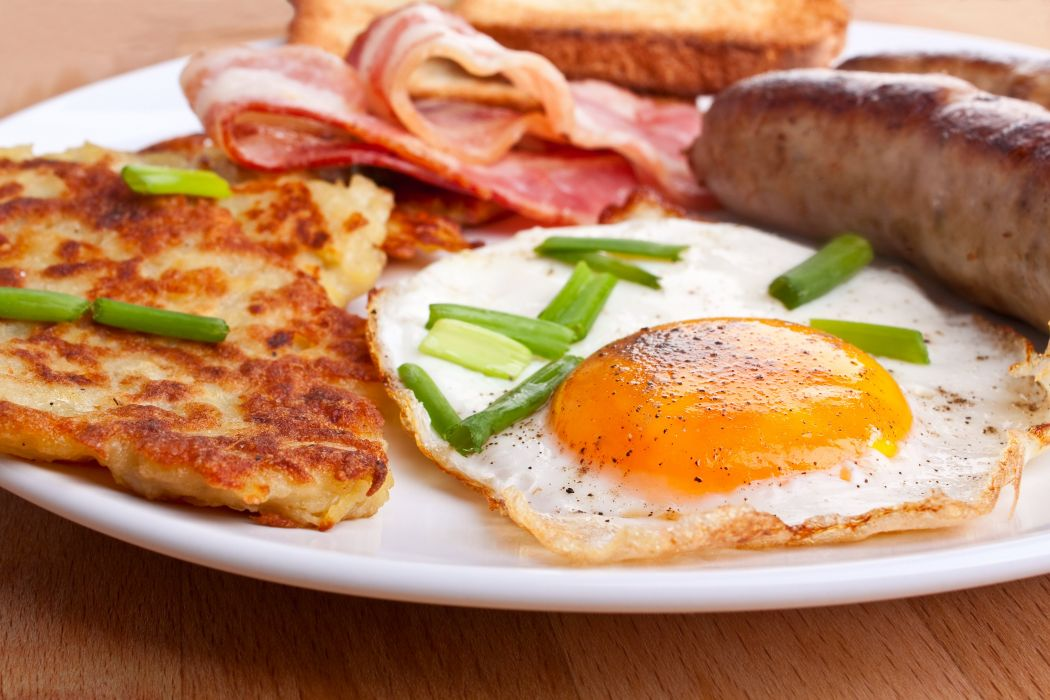 BACON EGGS breakfast meat chicken pork wallpaper
