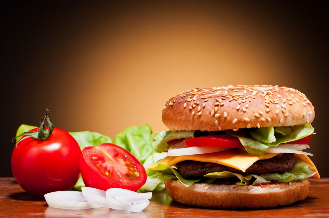 HAMBURGER sandwich beef meat lunch dinner wallpaper