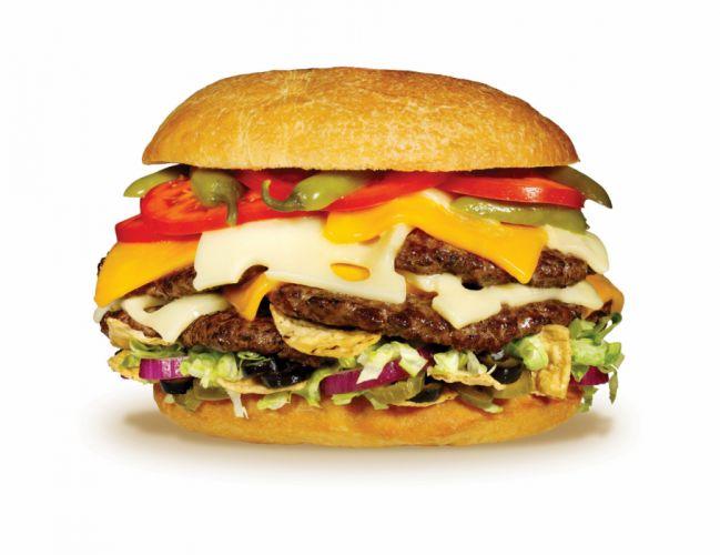 HAMBURGER sandwich beef meat lunch dinner wallpaper