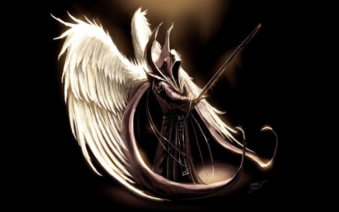 angel criatura espada muerte wallpaper