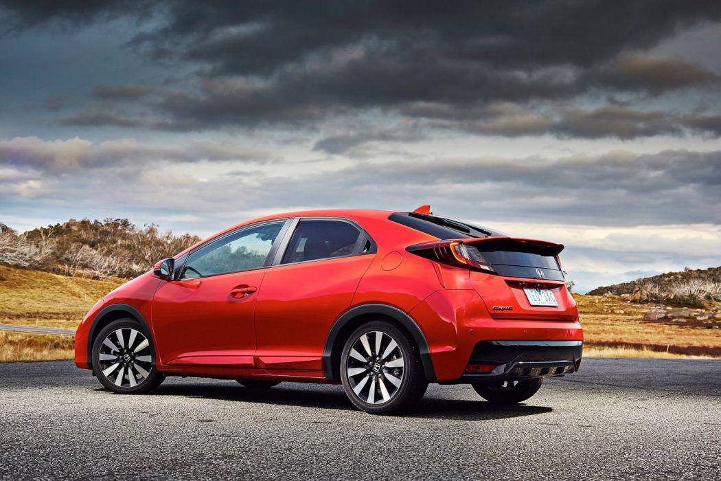 Honda Civic Hatchback AU-spec 2015 cars red wallpaper