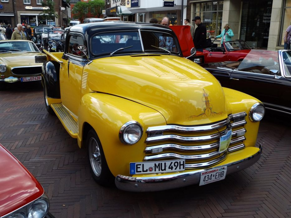 Chevrolet chevy old classic custom cars truck Pickup wallpaper