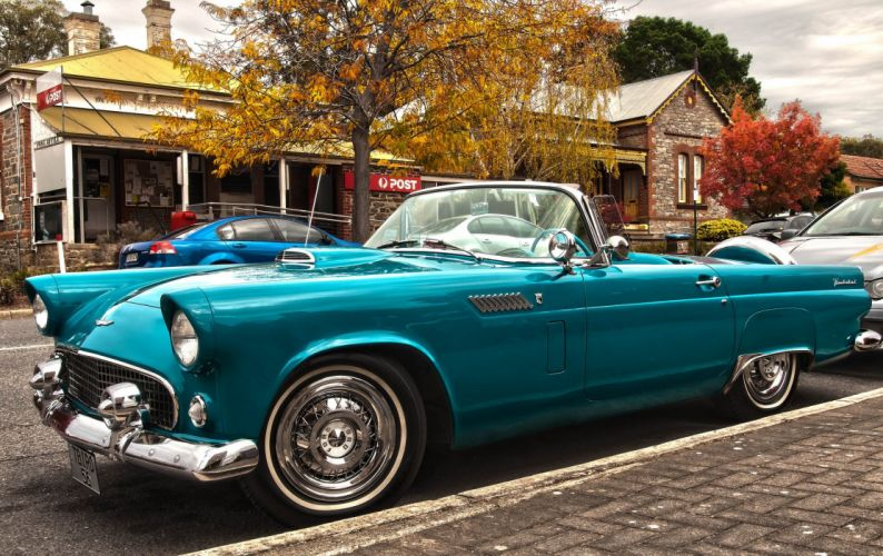 Ford Thunderbird MkI cars classic convertible wallpaper