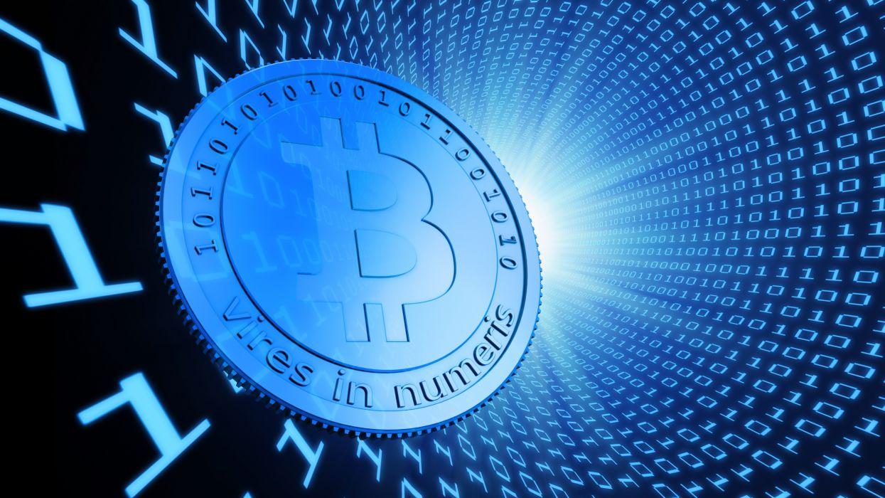 BITCOIN computer internet money coins poster code binary wallpaper