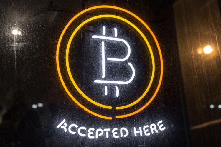BITCOIN computer internet money coins poster neon wallpaper