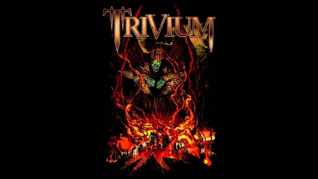 TRIVIUM metalcore heavy metal hardcore thrash melodic death 1trivium dark poster reaper skull wallpaper