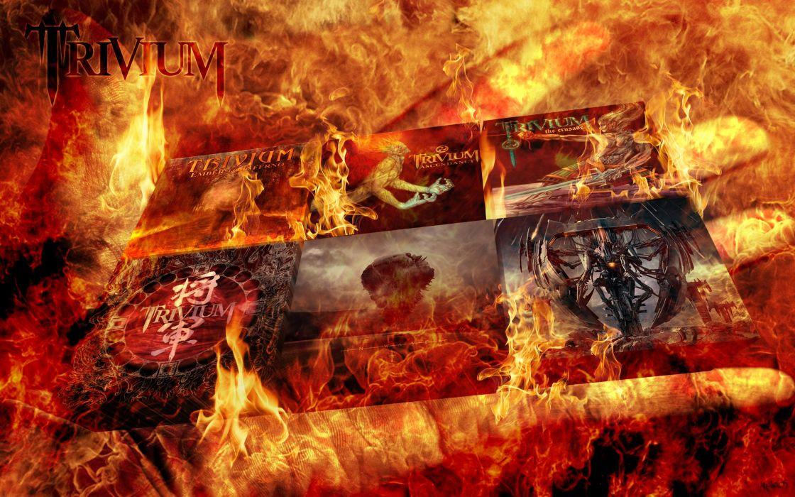 TRIVIUM metalcore heavy metal hardcore thrash melodic death 1trivium fire wallpaper