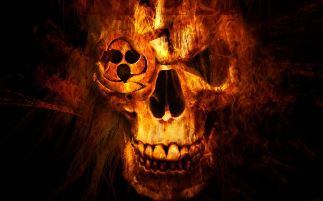 TRIVIUM metalcore heavy metal hardcore thrash melodic death 1trivium dark skull wallpaper