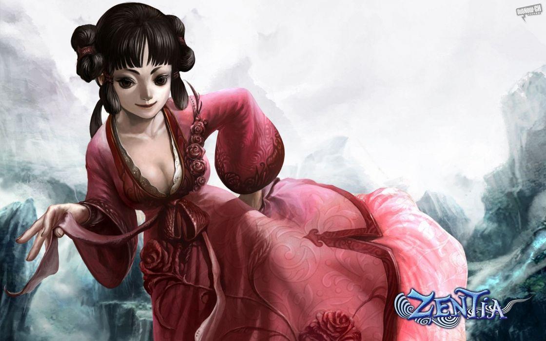 ZENTIA ONLINE comics mmo rpg fantasy Chinese fairy 1zentia puzzle adventure wallpaper