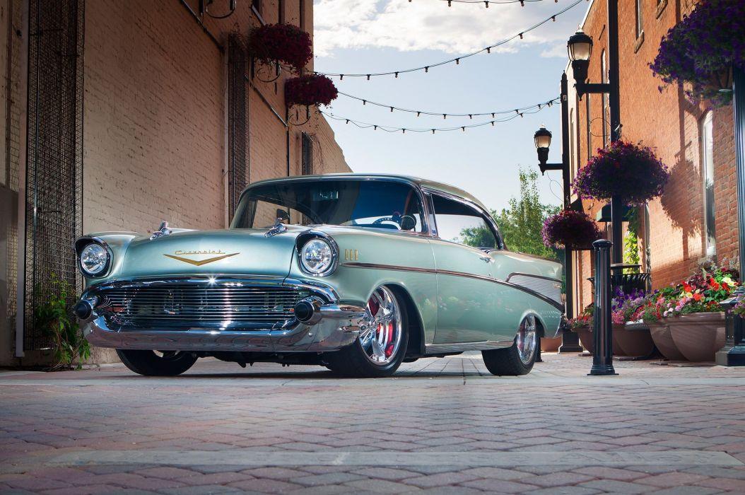 1957 Chevrolet Bel Air Hardtop Street Rod Rodder Hot Super USA 2048x1360-01 wallpaper