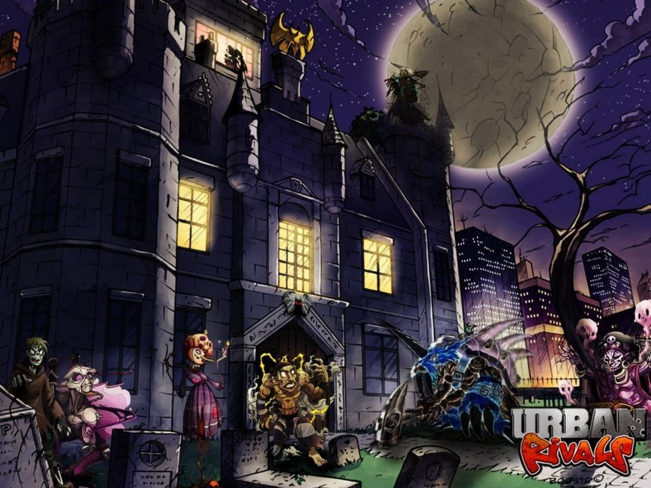URBAN RIVALS online manga anime mmo rpg card fantasy adventure 1urbanr action fighting wallpaper