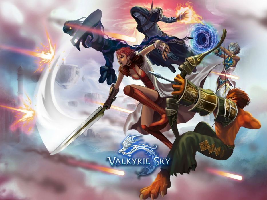VALKYRIE SKY fantasy mmo rpg arcade online action fighting shooter sci-fi warrior wallpaper