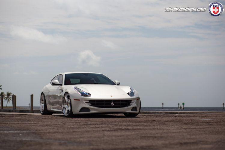 cars hre Tuning wheels ferrari-ff white wallpaper