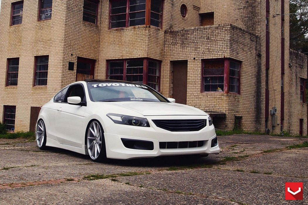 cars vossen Tuning wheels Honda Accord white wallpaper
