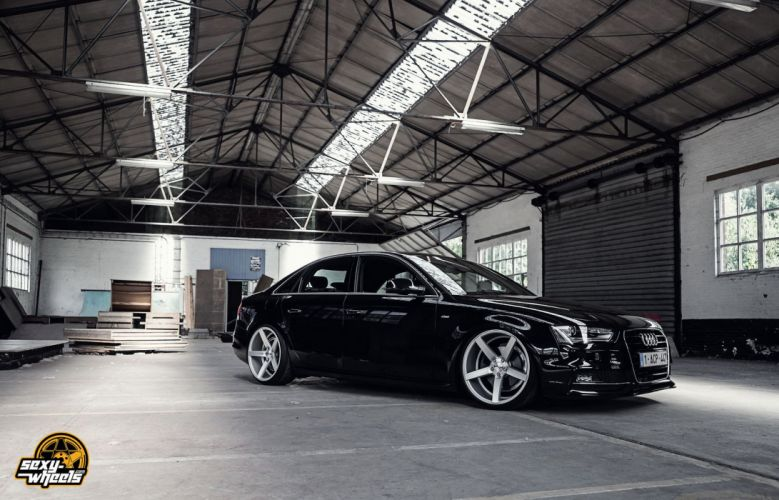 cars vossen Tuning wheels audi-a4 sedan black wallpaper