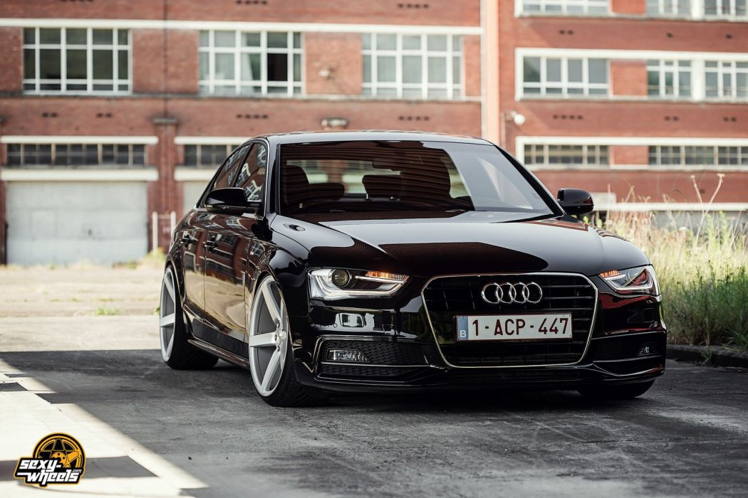 Cars Vossen Tuning Wheels Audi A4 Sedan Black Wallpaper 1600x1067