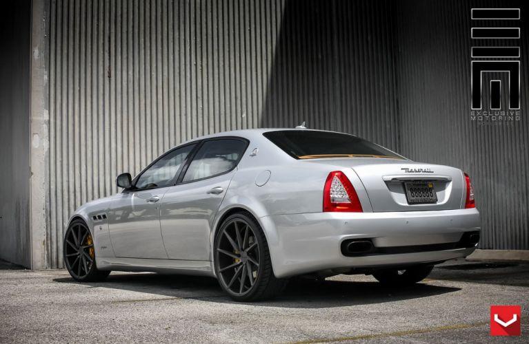 cars vossen Tuning wheels Maserati Quattroporte sedan black wallpaper