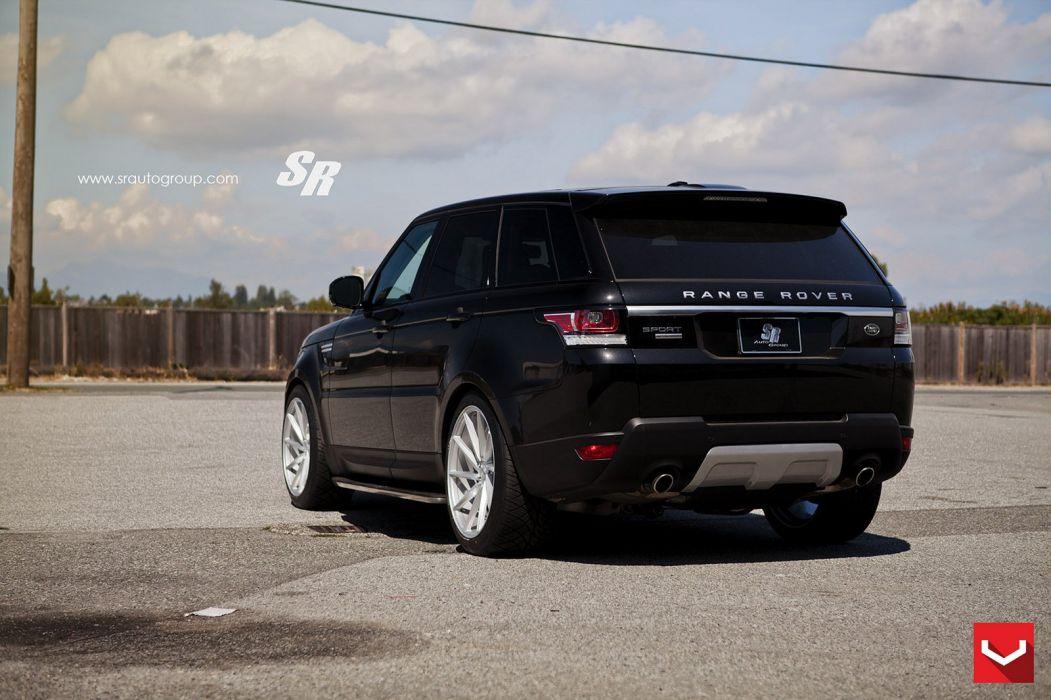 cars vossen Tuning wheels Range Rover 4x4 black wallpaper