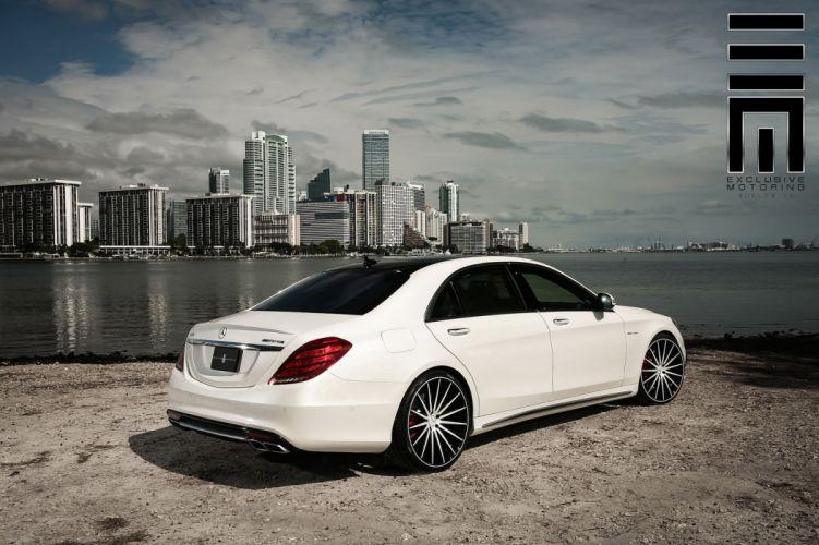 cars vossen Tuning wheels Mercedes S63 white wallpaper
