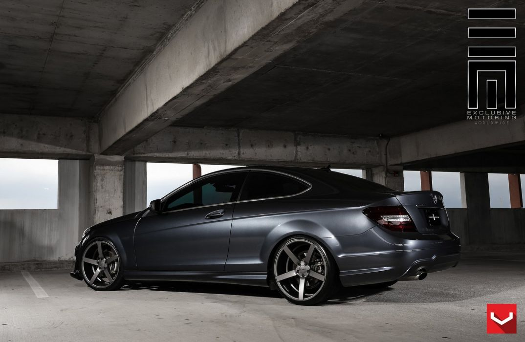 Mercedes C Coupe >> Cars vossen Tuning wheels Mercedes C250 coupe black wallpaper | 1600x1043 | 679199 | WallpaperUP