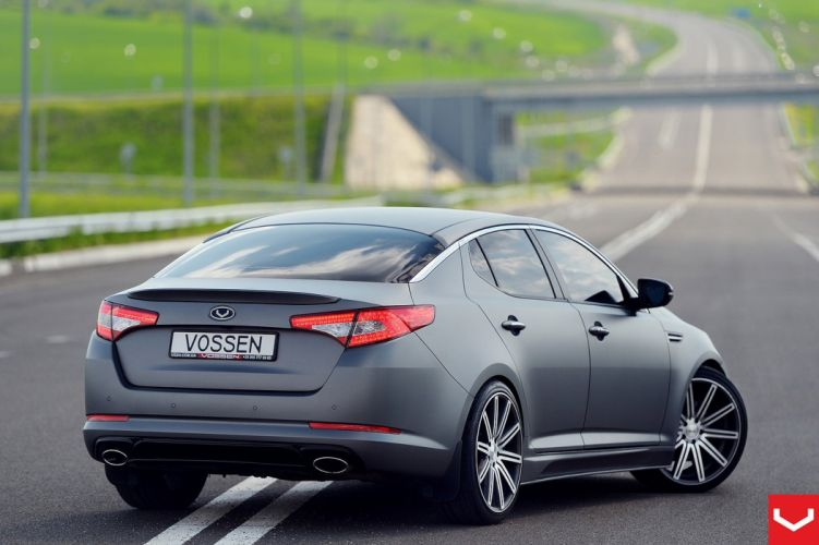cars vossen Tuning wheels Kia Optima black matt wallpaper