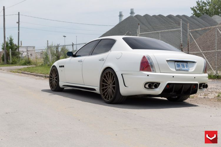 cars vossen Tuning wheels Maserati Quattroporte white wallpaper