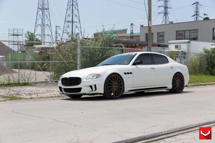 cars vossen Tuning wheels Maserati Quattroporte white wallpaper
