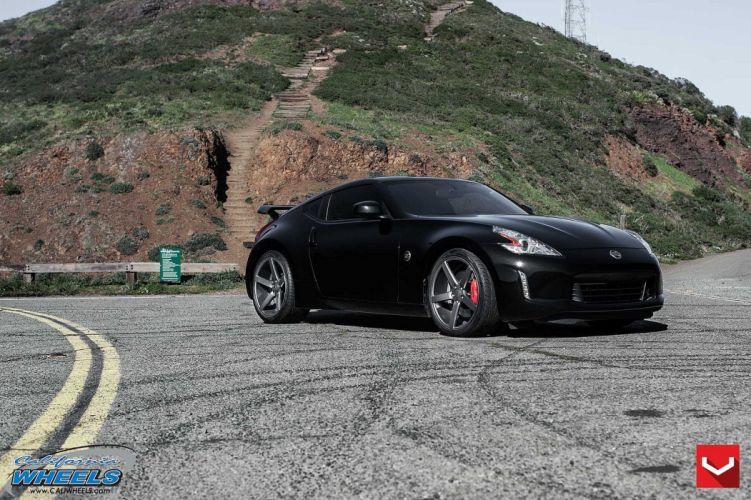 cars vossen Tuning wheels Nissan 370Z black wallpaper