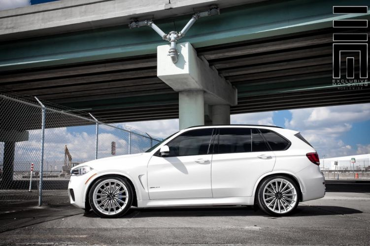 cars vossen Tuning wheels BMW-X5 suv white wallpaper