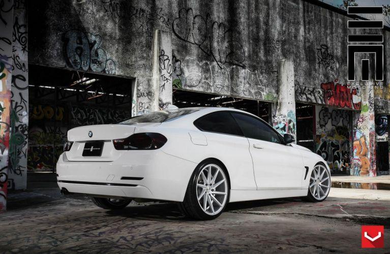 cars vossen Tuning wheels BMW 4-Series white wallpaper