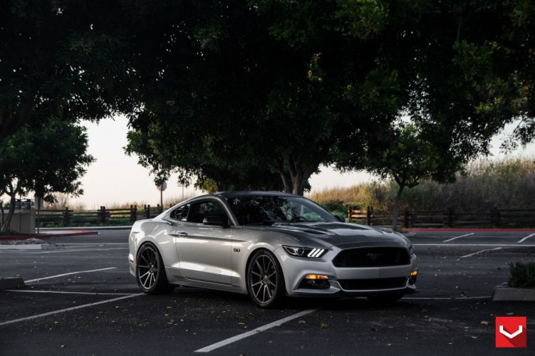 cars vossen Tuning wheels Ford Mustang wallpaper