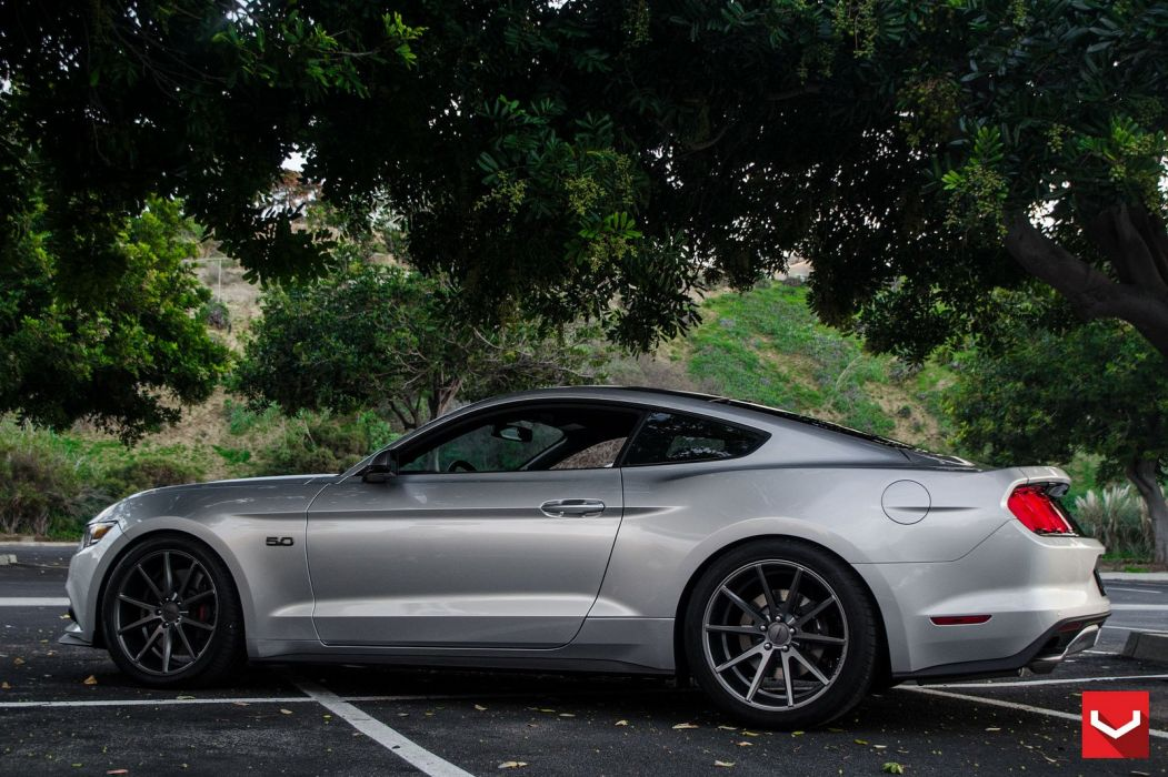 cars vossen Tuning wheels Ford Mustang wallpaper