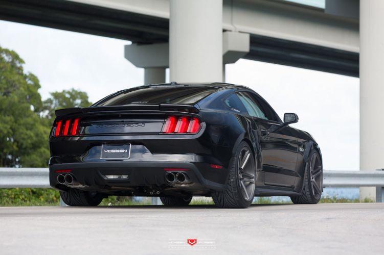 cars vossen Tuning wheels ford mustang black wallpaper