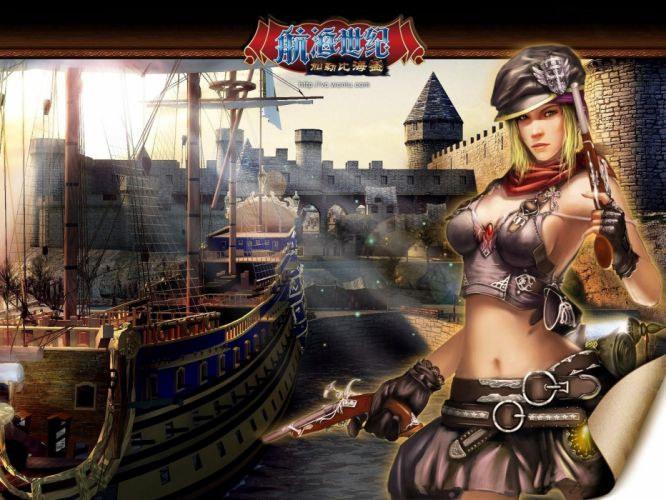 VOYAGE CENTURY online adventure mmo nautical rpg fantasy 1vcent history sailing ship boat bounty bay pirate pirates poster wallpaper