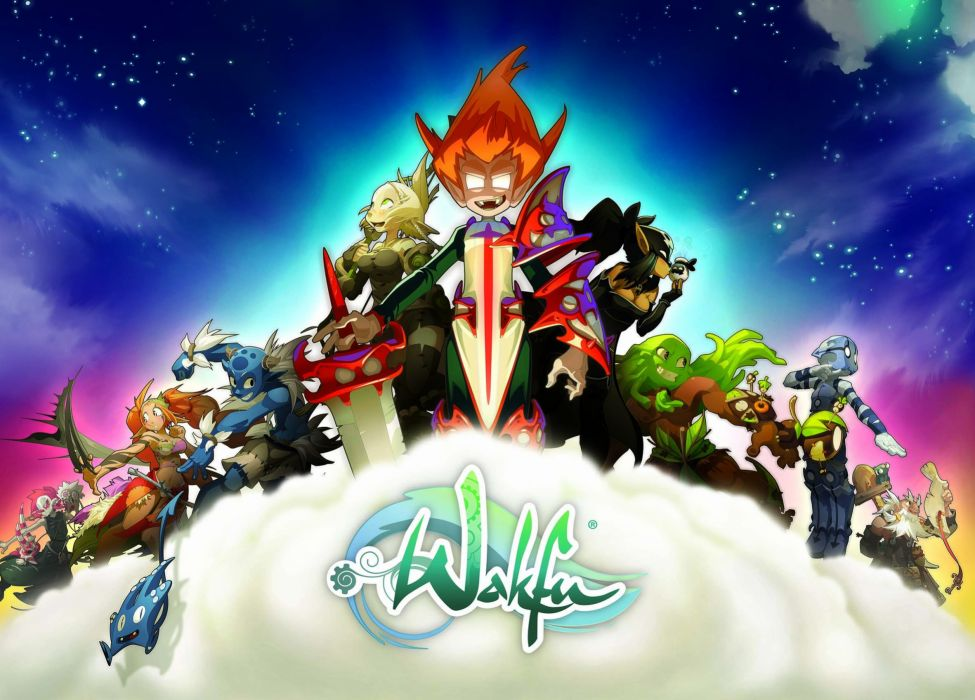 WAKFU strategy mmo rpg fantasy adventure action fighting 1wafku tactical cartoon manga anime wallpaper