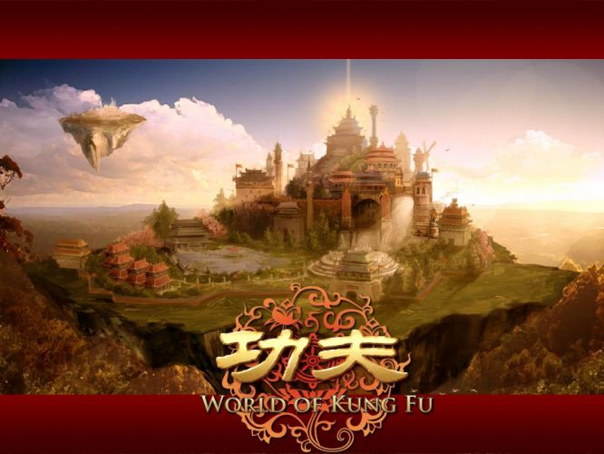 WORLD Of KUNG FU online chinese mmo rpg asian action fighting 1wokf martial arts fantasy warrior poster castle wallpaper