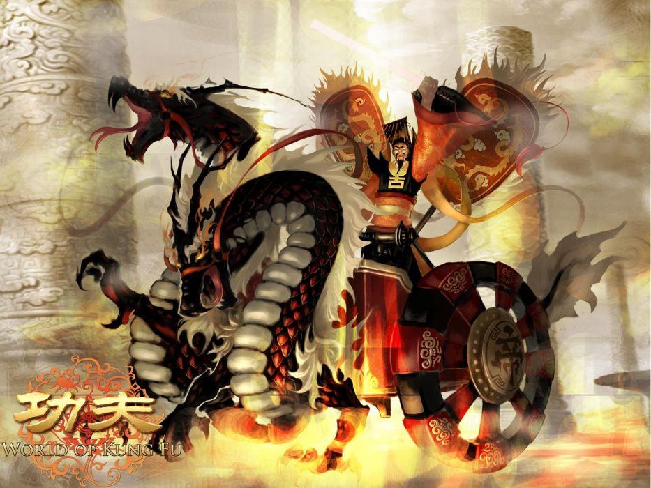 WORLD Of KUNG FU online chinese mmo rpg asian action fighting 1wokf martial arts fantasy warrior dragon wallpaper
