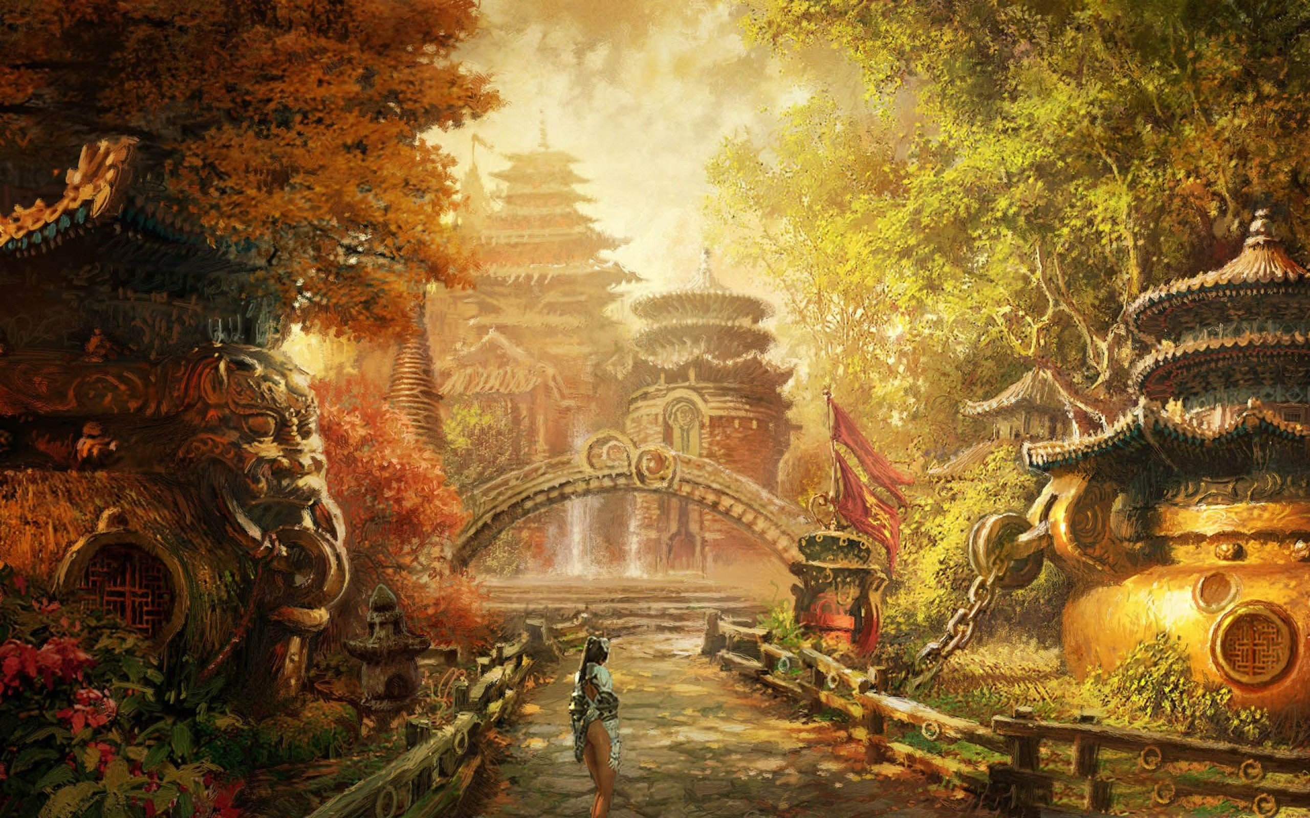 Fantasy rpg wallpaper share online - Blade And Soul Asian Martial Arts Action Fighting 1blades