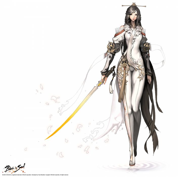BLADE And SOUL asian martial arts action fighting 1blades online mmo rpg Beulleideu aen anime fantasy perfect wallpaper