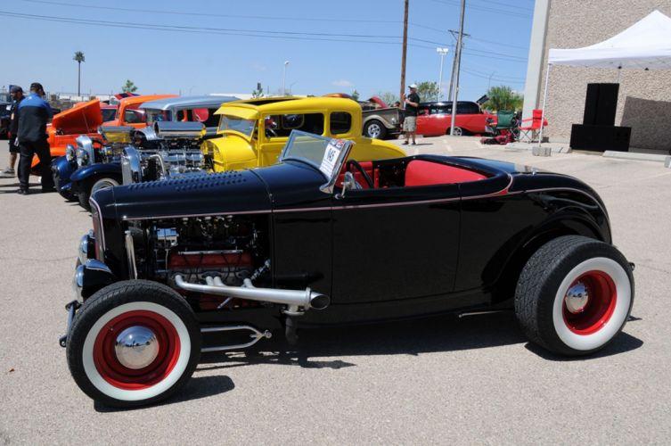 1932 Ford Roadster Hightboy Hot Rod Street Rodder Rodding Custom Old School USA 2048x1360 wallpaper