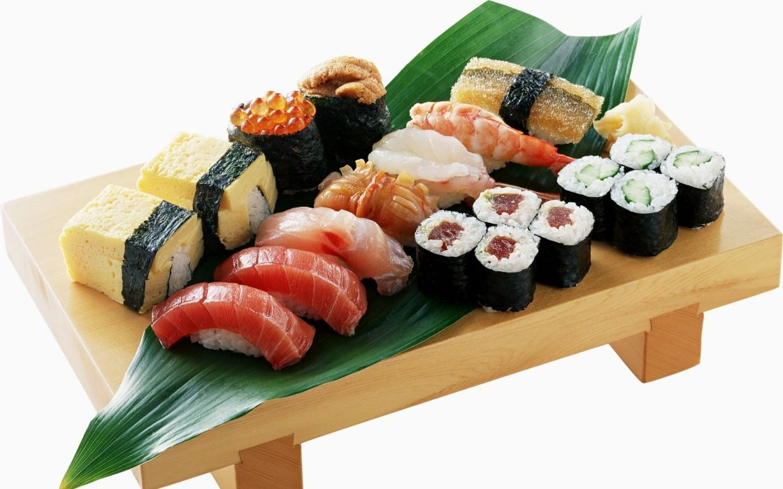 sushi pescado cocina japonesa wallpaper
