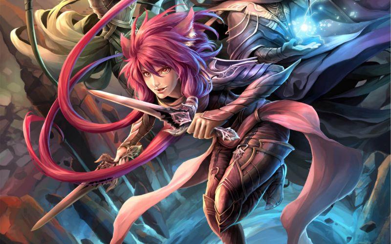 women warrior fantasy girl art artwork girl wallpaper
